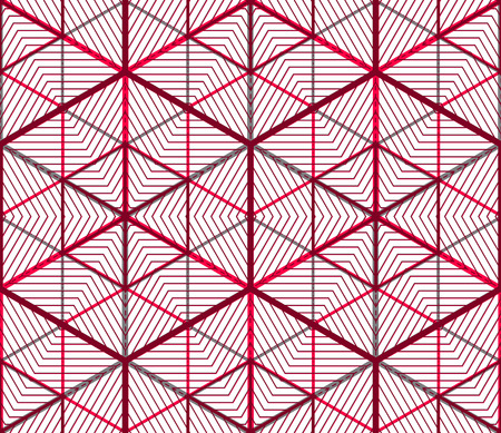entwine: Contemporary abstract endless background, three-dimensional repeated pattern. Decorative graphic entwine transparent ornament. Illustration
