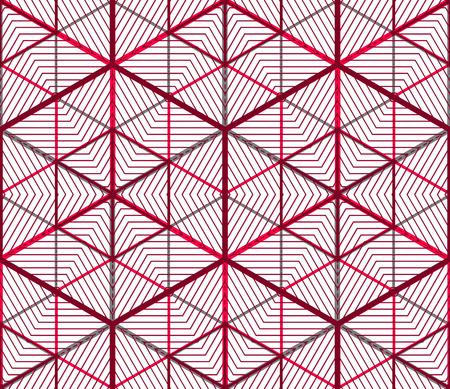 entwine: Sfondo astratto contemporanea infinito, tridimensionale modello ripetuto. Ornamento trasparente entwine grafico decorativo. Vettoriali