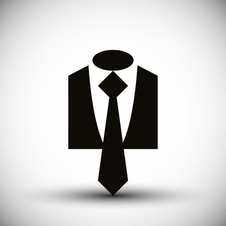 official wear: Cloth icon vector illustration of suit with a tie business man icon.