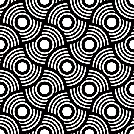 Seamless geometric pattern, simple vector black and white stripes background, accurate, editable and useful background for design or wallpaper.