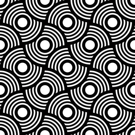Seamless géométrique, simple vecteur noir et bandes blanches fond, fond précis, modifiable et utile pour la conception ou le papier peint. Banque d'images - 38356807