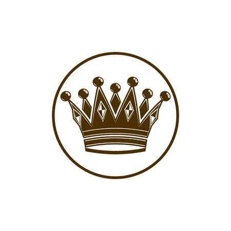 coronet: 3d vintage crown, luxury coronet illustration. Classic imperial and VIP symbol, for use in advertising and design. Illustration