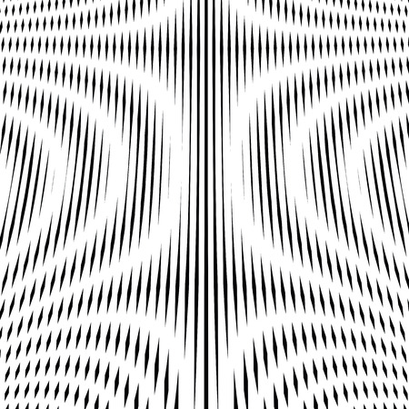 trance: Illusive background with black lines, moire style. Contrast geometric trance pattern, optical backdrop.