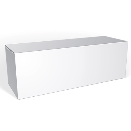 multiply: Package white box design isolated on white background, template for your package design, put your image over the box in multiply mode, vector illustration  Illustration