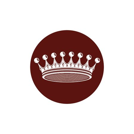 3d vintage crown, luxury coronet illustration. Classic imperial and VIP symbol, for use in advertising and design. Illustration