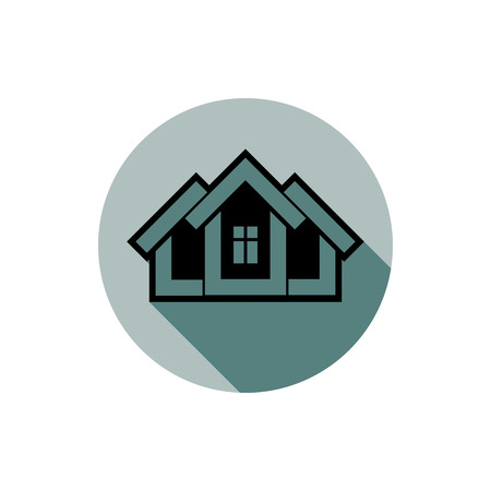 structural engineers: Simple house detailed illustration. Property developer conceptual icon, real estate emblem.  Building modeling and engineering projects abstract symbol.