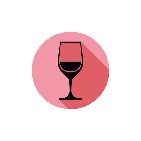 rendezvous: Sophisticated wine goblet, stylish alcohol theme illustration. Classic wineglass, romantic rendezvous idea.