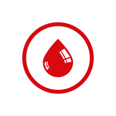 donor blood type: Drop of blood vector icon.
