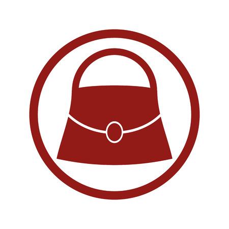 dos: Woman bag vector icon.