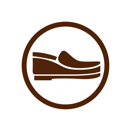 Footwear icon vector shoes pictogram.