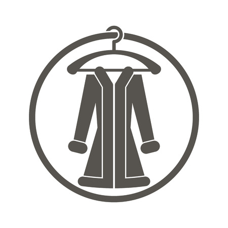topcoat: Cloth icon vector illustration of woman coat. Illustration