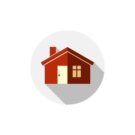 estate planning: Vector house simple illustration. Abstract symbol isolated on white real estate design element.