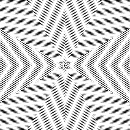 visual effects: Optical illusion, moire background, abstract lined monochrome tiling. Unusual geometric pattern with visual effects. Illustration