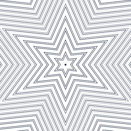 trance: Illusive background with black chaotic lines, moire style. Contrast geometric trance pattern, optical backdrop. Illustration