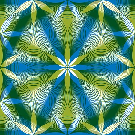 espejismo: Fondo incons�til de la vendimia floral, geom�trico sin fisuras patr�n rayado, ilustraci�n vectorial.