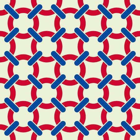 Netting seamless pattern geometric vector background. Vector
