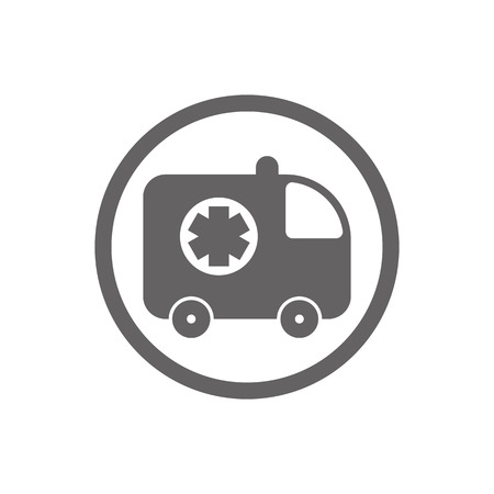 ambulance car: Ambulance car vector icon isolated. Illustration