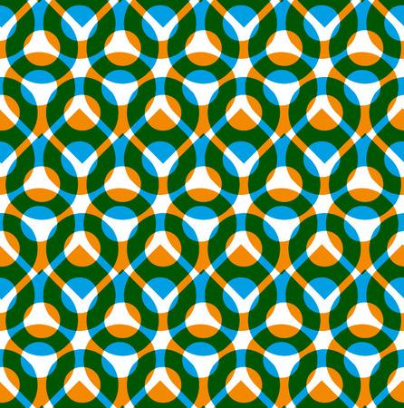 imposing: Colorful vettore seamless con le goccioline verde e arancione, estate luminosa infinita sfondo imponente con gocce, senza fine copertina del libro astratto.
