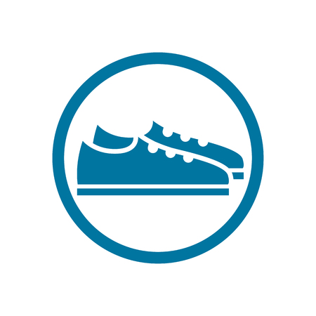 Footwear icon vector shoes pictogram. Vector