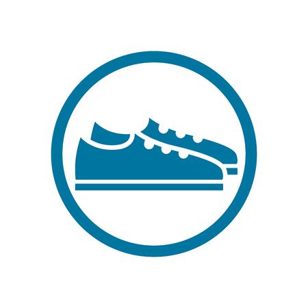 footwear: Footwear icon vector shoes pictogram.