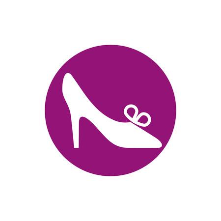 footwear: Footwear icon vector shoe pictogram.