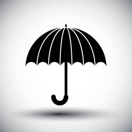 single color: Umbrella vector simple single color icon. Illustration