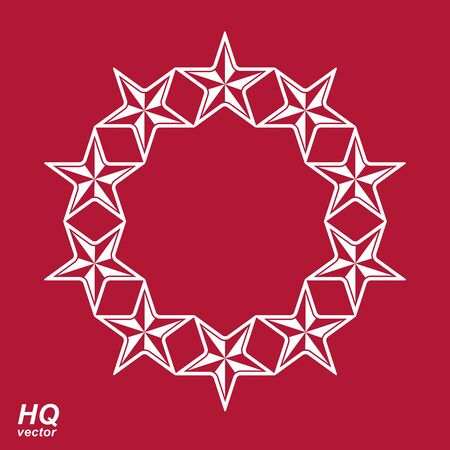 conceptual symbol: union conceptual symbol. Festive design element with stars