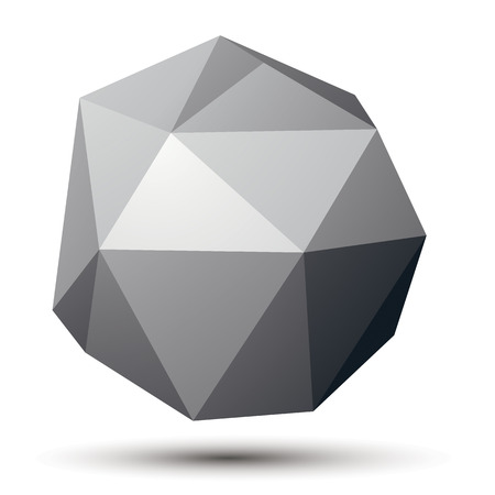 complicated: complicated 3d figure, modern digital technology style form. Abstract unusual gray three-dimensional object.