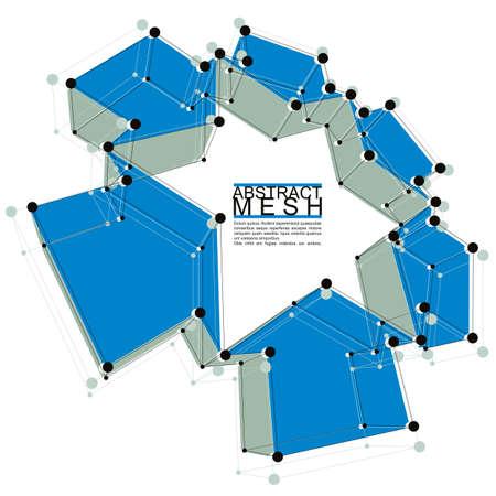 mesh: Abstract mesh illustration Illustration