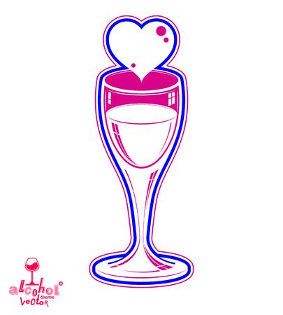 wineglass: Wineglass 3d artistic illustration Illustration