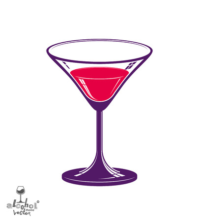 copa martini: Realista copa de martini 3d, ilustraci�n tema de alcohol Vectores
