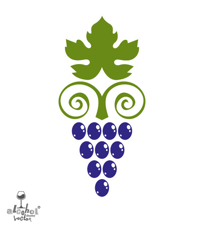 sensitivity: Stylized grape vine illustration