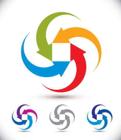 conceptual symbol: Arrows abstract conceptual symbol template