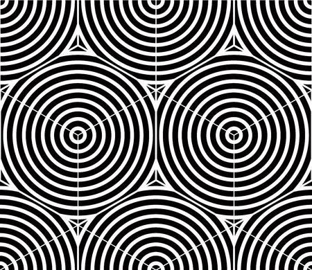 contraste: Contraste sim�trica patr�n transparente blanco y negro con figuras entretejen Vectores