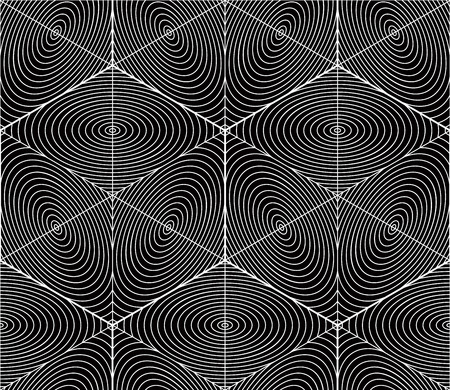 Contemporary abstract endless background, three-dimensional repeated pattern