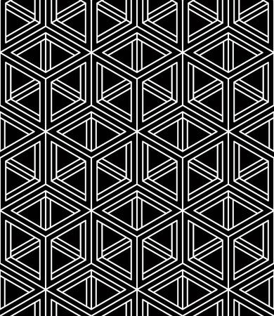 splice: Geometric seamless pattern, endless black and white regular background