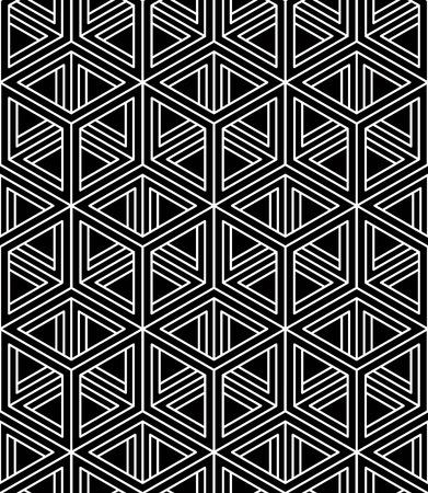 entwine: Monocromatico illusoria astratto geometrico senza soluzione di continuit� con le figure geometriche 3d Vettoriali