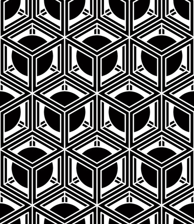 splice: Regular contrast endless pattern with intertwine three-dimensional figures