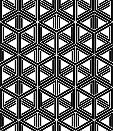 interweave: Monochrome abstract interweave geometric seamless pattern Illustration