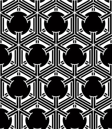 entwine: In bianco e nero illusorio geometrica astratta senza soluzione di modello 3d Vettoriali