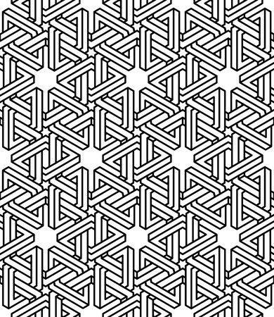 splice: Contemporary abstract endless background, three-dimensional repeated pattern. Illustration