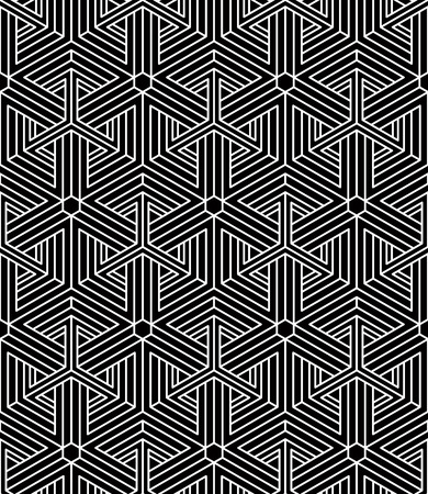 intertwine: Regular contrast endless pattern with intertwine three-dimensional figures