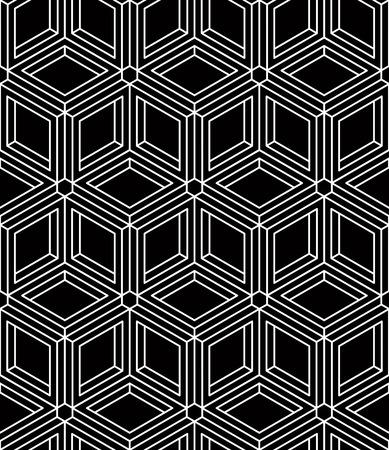 interweave: Monochrome abstract interweave geometric seamless pattern Illustration
