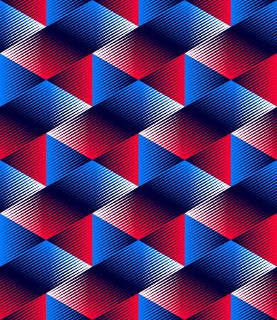 entwine: Illusive continuo modello colorato, decorativo astratto con figure geometriche 3d. Luminoso trasparente ornamentali sfondo senza soluzione di continuit�, pu� essere utilizzato per la progettazione e tessile.