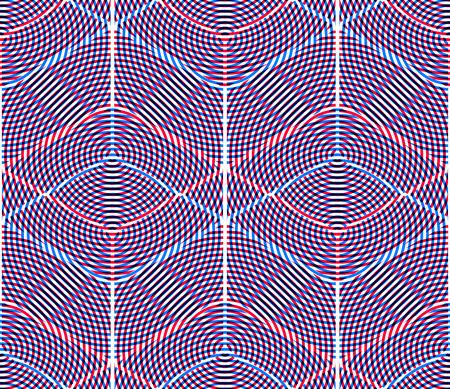 endless: Endless colorful symmetric pattern, graphic design