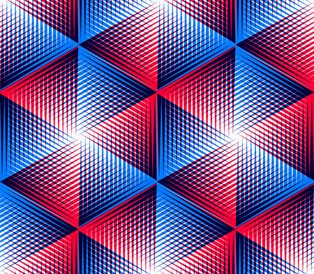 interweave: Bright symmetric seamless pattern with interweave figures