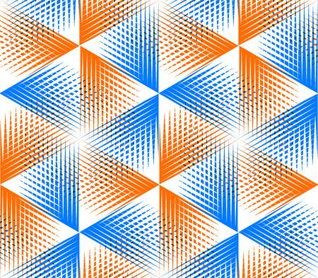 illusory: Brillante patr�n transparente ilusoria abstracto geom�trico con figuras geom�tricas en 3D