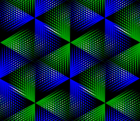 splice: Illusive continuous colorful pattern, decorative abstract background with 3d geometric figures