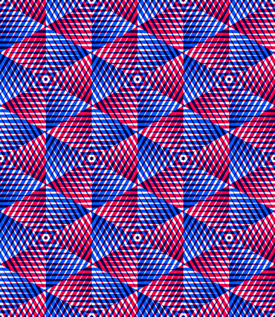 entwine: Contemporary abstract endless background, three-dimensional repeated pattern