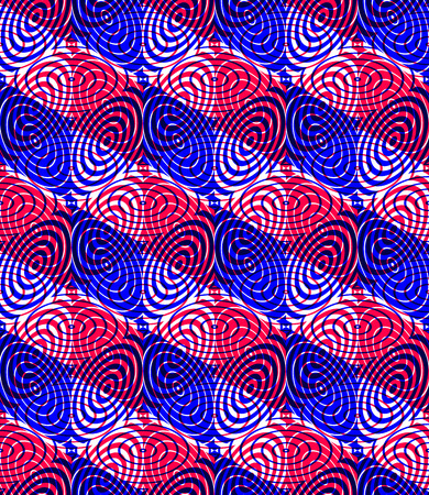 pellucid: Contemporary abstract endless background, three-dimensional repeated pattern